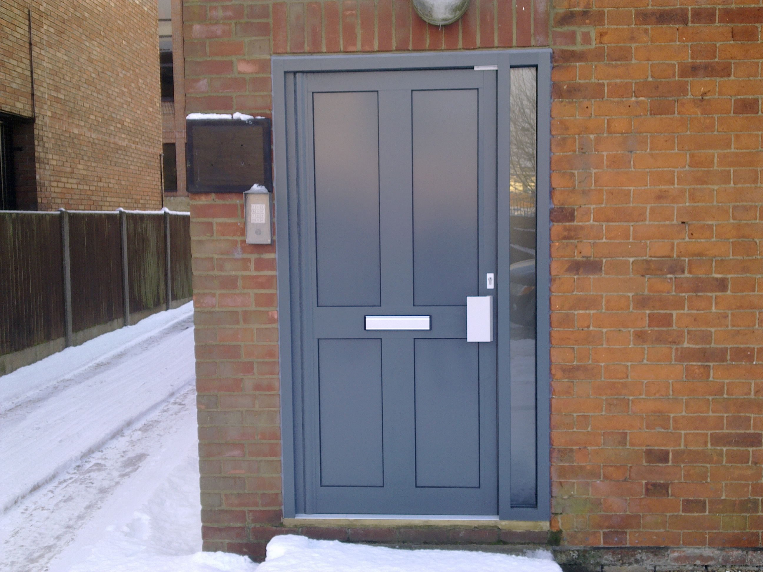 Contempory composite entrance doors for Extra wide exterior doors