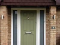 Green PVC Front Door