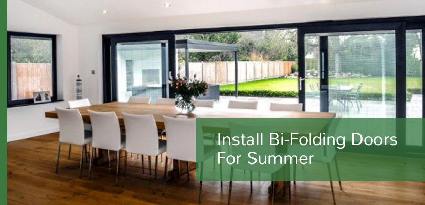 Vi-folding doors for summer