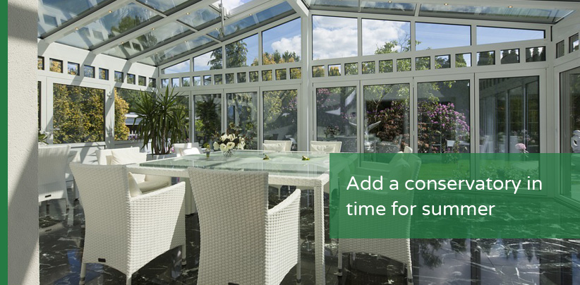 Add a conservatory to your home for summer 2018 window wise for Adding a conservatory